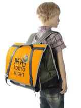 Satchel 2 Compartments Ikks Yellow backpacker in tokyo 18-41836-vue-porte