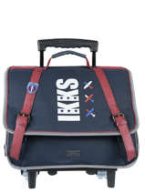 Wheeled Schoolbag 2 Compartments Ikks Blue flight 18-42842