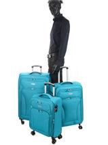 Luggage Set Snow Travel Red snow 12208LOT-vue-porte