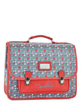 Satchel 2 Compartments Cameleon Red retro RET-CA38