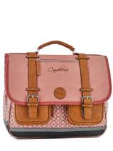 Satchel 3 Compartments Cameleon Pink vintage VINCA41