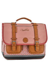 Satchel 3 Compartments Cameleon Pink vintage VINCA41