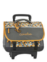 Wheeled Schoolbag 2 Compartments Cameleon Yellow new basic NBACA38R