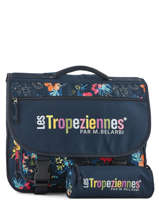 Satchel 2 Compartments With Free Pencil Case Les tropeziennes Blue wissant WIS05