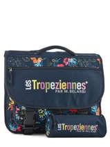 Satchel 2 Compartments With Free Pencil Case Les tropeziennes Blue wissant WIS04