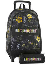 Wheeled Backpack With Free Pencil Case Les tropeziennes Black wissant WIS02