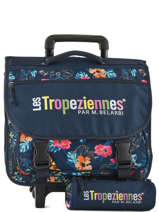 Wheeled Schoolbag With Matching Pencil Case Les tropeziennes Blue wissant WIS01