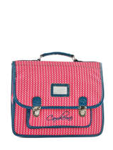 Satchel 2 Compartments Cameleon Pink retro vinyl REV-CA35