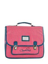 Satchel For Kids 2 Compartments Cameleon Pink retro vinyl REV-CA35