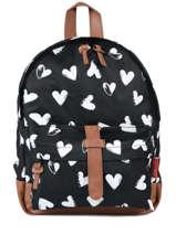 Backpack Mini Kidzroom Black black and white 30-8878