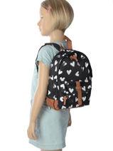 Backpack Mini Kidzroom Black black and white 30-8878-vue-porte