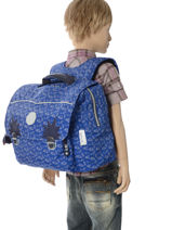 Satchel 1 Compartment Kipling Blue back to school capsule 82-vue-porte