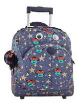 Wheeled Bag Kipling Blue back to school 157