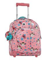 Wheeled Bag Kipling Pink back to school 157