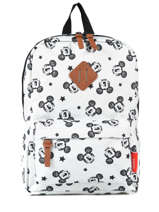 Backpack Mini Mickey and minnie mouse White fashion 88-8693