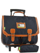 Wheeled Schoolbag With Matching Pencil Case Tann