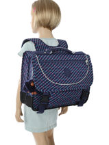 Cartable 2 Compartiments Kipling Bleu back to school 12074-vue-porte