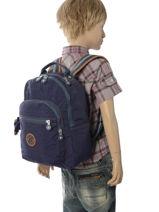 Sac à Dos 1 Compartiment Kipling Bleu back to school 18674-vue-porte