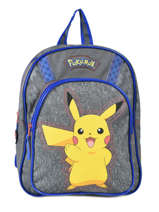 Backpack Pikachu Pokemon Gray pika pika 160-8479