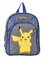 Sac A Dos Pikachu Pokemon Gris pika pika 160-8479