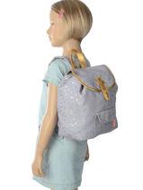Backpack Mini Kidzroom Gray gold rush 30-8452-vue-porte