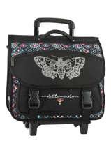 Wheeled Schoolbag Little marcel Black baia BA01