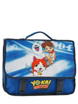 Cartable 2 Compartiments Yokai watch Bleu attack YOKEI10