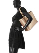 Longchamp Roseau mÉtal Hobo bag Gold-vue-porte