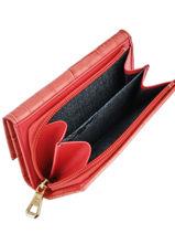 Longchamp Roseau style croco Portefeuilles Rouge-vue-porte