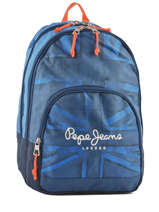 Backpack 2 Compartments Pepe jeans Blue fabio 60924