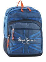 Backpack 1 Compartment Pepe jeans Blue fabio 60923