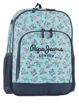 Backpack 2 Compartments Pepe jeans Black denise 60124