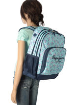 Backpack 2 Compartments Pepe jeans Black denise 60124-vue-porte