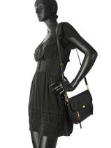 Crossbody Bag Evie Leather Michael kors Black evie S8GZUF2L-vue-porte