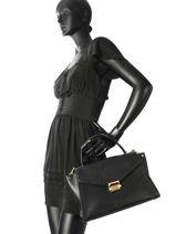 Top Handle Whitney Leather Michael kors Black m group T8GXIS3L-vue-porte
