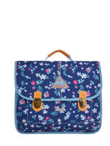 Satchel 2 Compartments With Free Pencil Case Poids plume Blue liberty LIB1538