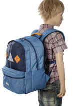 Backpack 2 Compartments With Free Pencil Case Poids plume Blue be light PLI1855-vue-porte