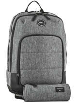 Backpack With Free Pencil Case Quiksilver Gray youth access QYBP3497