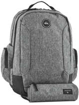 Backpack With Free Pencil Case Quiksilver Gray youth access QYBP3498