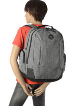 Backpack With Free Pencil Case Quiksilver Gray youth access QYBP3498-vue-porte