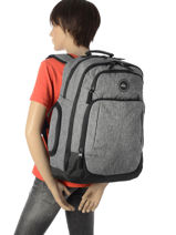 Backpack With Free Pencil Case Quiksilver Gray youth access QYBP3500-vue-porte