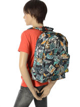 Sac à Dos 1 Compartiment Quiksilver Noir youth access QYBP3512-vue-porte