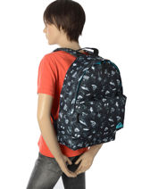 Backpack 1 Compartment Quiksilver Gray youth access QYBP3512-vue-porte