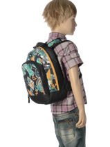 Backpack Mini Quiksilver Black youth access kids QYBP3009-vue-porte