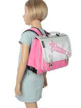 Satchel Caramel et cie Pink fille CART-PMF-vue-porte