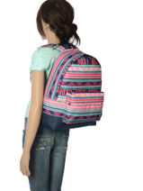 Backpack 1 Compartment Roxy Black back to school RJBP3728-vue-porte