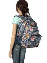 Sac A Dos Avec Trousse Offerte Roxy Black back to school RJBP3736-vue-porte