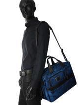 Briefcase Tumi Blue alpha 2 business DH26141-vue-porte