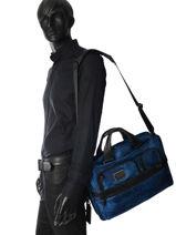 Briefcase Tumi Blue alpha 2 business DH26516-vue-porte