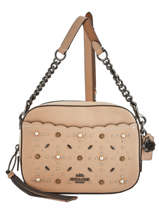 Sac Bandoulière Camera Bag Cuir Coach Beige camera bag 29329